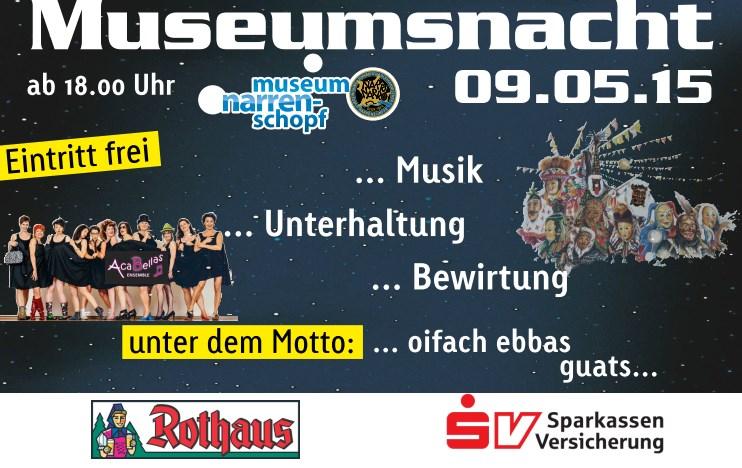 Werbung für die Museumsnacht 2015